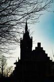 Силуэт церков святой семьи Стоковые Изображения RF