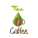 Силуэт чашки чая кофе логотипа Стоковое Фото