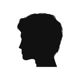 Силуэт человека головной иллюстрация штока