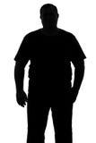 Силуэт человека с плотным ful конституции Стоковые Фотографии RF