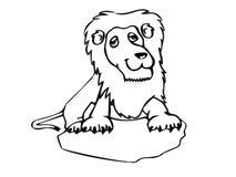 Силуэт шаржа льва иллюстрация вектора
