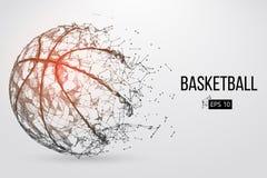 Силуэт шарика баскетбола также вектор иллюстрации притяжки corel Стоковые Изображения RF