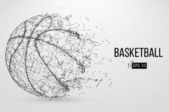 Силуэт шарика баскетбола также вектор иллюстрации притяжки corel Стоковая Фотография RF