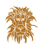 Силуэт льва головной Стоковые Изображения