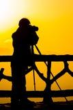 Силуэт людей Стоковые Фотографии RF
