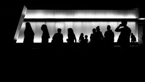 Силуэт людей Стоковое Фото