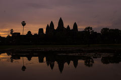 Силуэт Angkor Wat Стоковая Фотография
