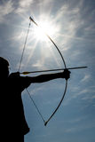 Силуэт Archery Стоковое Фото