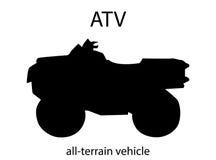 Силуэт ATV Стоковые Фотографии RF