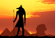 Силуэт Hieroglyphics Стоковые Фотографии RF