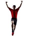 Силуэт jogger бегуна бежать jogging скача Стоковое Изображение