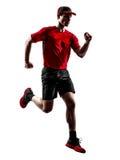 Силуэт jogger бегуна бежать jogging Стоковое Фото