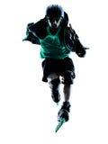 Силуэт Rollerblades конькобежца ролика человека встроенный Стоковое Изображение RF