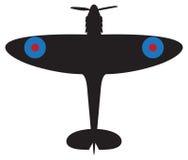 Силуэт Spitfire Стоковые Фото