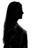 Силуэт womanprofile в тени стоковое изображение rf