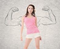 сильная женщина стоковые фотографии rf