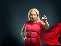 сильная женщина Стоковые Изображения