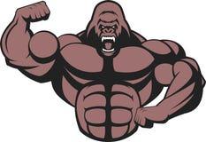 Сильная свирепая горилла бесплатная иллюстрация