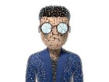 сильная 3D треснутая персонажем из мультфильма Стоковые Фото
