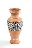 Сильно декоративная керамическая ваза цветка украшенная с красивым Стоковое Фото