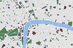 Сильно детальная карта дорожной сети города Лондона Стоковая Фотография RF