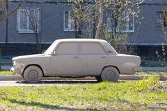 Сильно пакостный автомобиль стоковое фото rf
