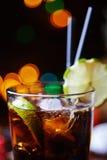 Сильные коктеиль или лимонад спирта с Стоковое Изображение