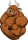 Сильный бык иллюстрация вектора