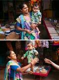 Сильный индийский младенец Стоковые Фото