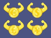 Сильный комплект валюты иллюстрация вектора