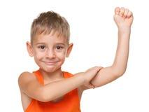 Сильный малый мальчик Стоковая Фотография