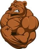 Сильный медведь иллюстрация вектора