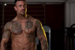 Сильный мышечный смешанный боец боевых искусств Стоковое фото RF