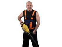 Сильный работник с пуншем Стоковые Изображения RF