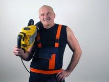 Сильный работник с пуншем Стоковые Фото