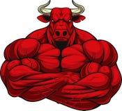 Сильный свирепый бык бесплатная иллюстрация