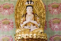 Сидя висок Penang Малайзия Kek Lok Si плитки стены лотоса Будды стоковое фото