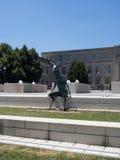 Сидя скульптура оленей на шагах Cosi Стоковое Изображение RF