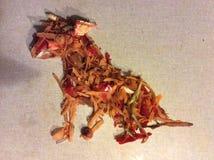 Сидя собака - Vegetable потеха Стоковое Изображение RF