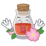 Скажите вне масло с насмешкой семени плода шиповника на талисмане иллюстрация вектора