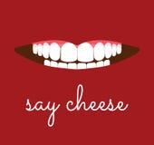 Скажите карточку сыра Стоковое Изображение