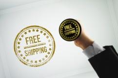 Скажите к клиентам ваш продукт бесплатная доставка Стоковое Изображение