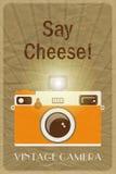 Скажите плакат сыра Стоковые Изображения