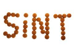 сказанное по буквам sint конфеты стоковая фотография