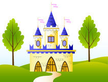 сказка замока иллюстрация штока