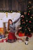 Сказка зимы портрета рождества Стоковые Изображения