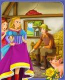 Сказка - красивый стиль Manga - иллюстрация для детей Стоковая Фотография
