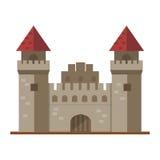 Сказка дома фантазии архитектуры значка башни замка сказки шаржа милая средневековая и дизайн твердыни принцессы иллюстрация вектора