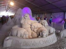 Сказка скульптуры песка стоковые фото