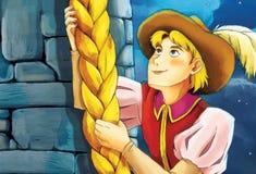 Сказка шаржа - иллюстрация для детей Стоковые Фотографии RF